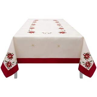 Holiday Embroidered Rectangular 70 x 86 in. Tablecloth