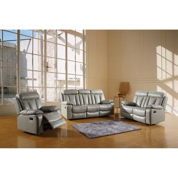 GU Industries Leather Air/Match Upholstered 3 Piece Living Room Recliner  Sets