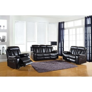 GU Industries Leather Air/Match Upholstered 3-Piece Living Room Recliner Sets