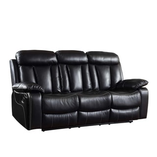 GU Industries Leather Air/Match Upholstered Living Room Recliner Sofa