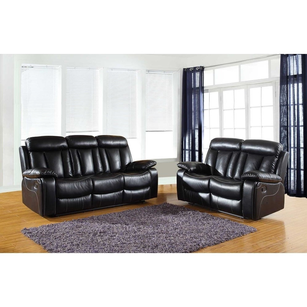 GU Industries Leather Air/Match Upholstered 2-Piece Living Room ...