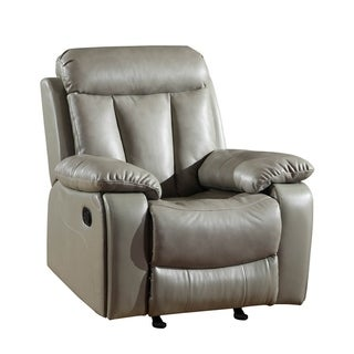 GU Industries Leather Air/Match Upholstered Living Room Recliner Chair