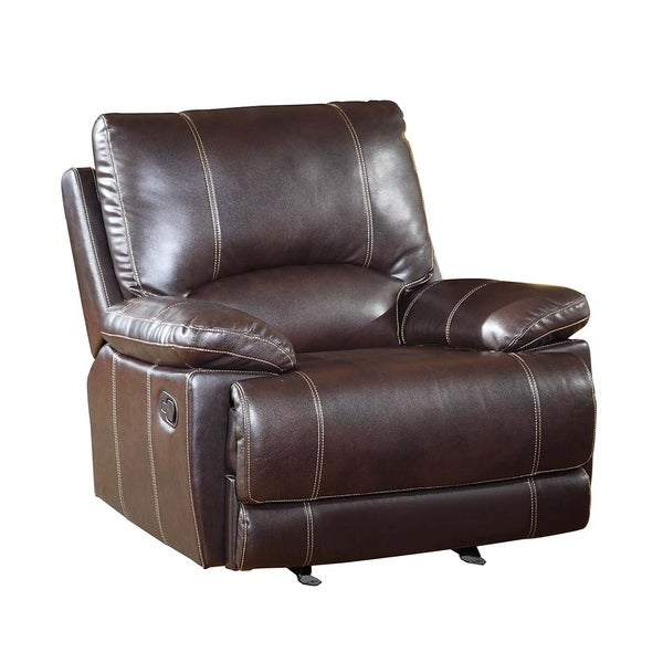 Shop Gu Industries Leather Air Match Upholstered Living Room Recliner Chair On Sale Free