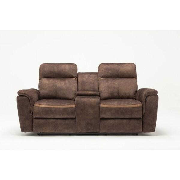 GU Industries Palomino Fabric Upholstered Living Room Recliner Loveseat