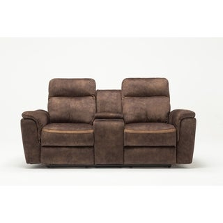 GU Industries Palomino Fabric Upholstered Living Room Recliner Loveseat