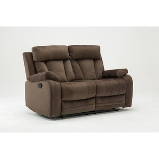 gu industries microfiber fabric upholstered living room recliner loveseat