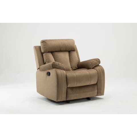 GU Industries Microfiber Fabric Upholstered Living Room Recliner Chair