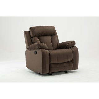 Global United Industries Microfiber Fabric Upholstered Living Room Recliner Chair