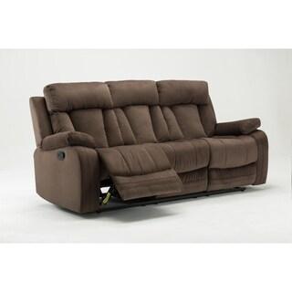 GU Industries Microfiber Fabric Upholstered Living Room Recliner Sofa