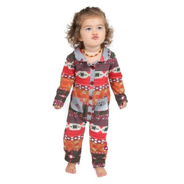 Jelly The Pug Tribal Brynn Baby Girl Knit Romper