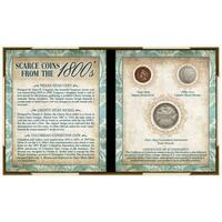 Presidential Seal JFK Half Dollar Coin Multi-Tool Pocket Watch Compass