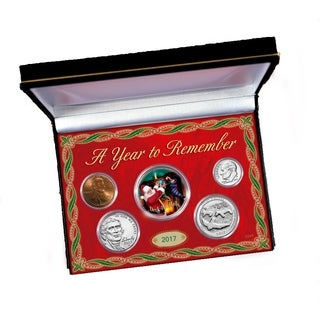 2017 Year to Remember Coin Set with Santa JFK Half Dollar