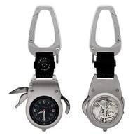 Silver Walking Liberty Half Dollar Coin MultiTool Pocket Watch Compass