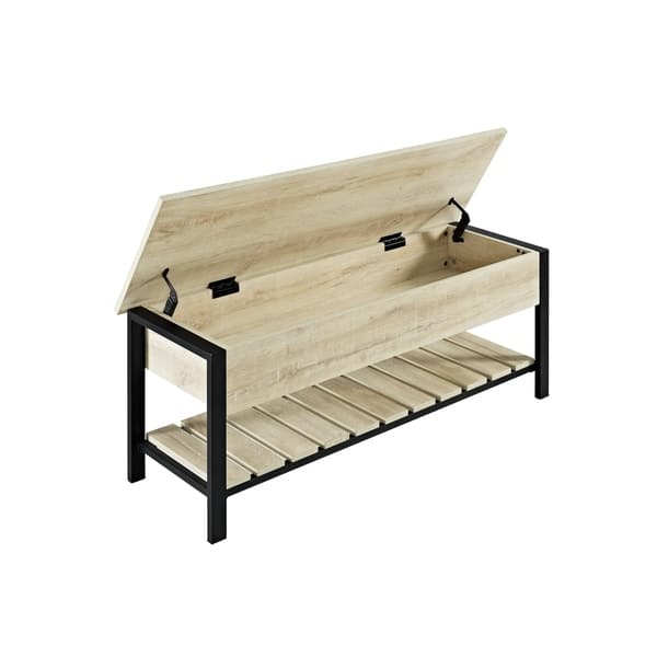 Surprising Shop The Gray Barn Paradise Hill Lift Top Storage Bench 48 Machost Co Dining Chair Design Ideas Machostcouk