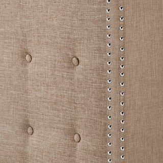Melina Tufted Linen Wingback Bed by iNSPIRE Q Bold (Beige - Queen)