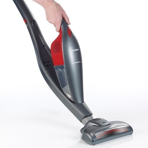 Severin Germany 2 in 1 Upright And Cordless Handheld Bagless Vacuum Cleaner (Platinum Grey/Red)