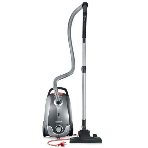 Severin Germany Bagged Canister Vacuum Cleaner (Platinum Grey)