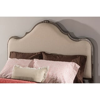 Delray Ivory Fabric King Headboard with Headboard Frame
