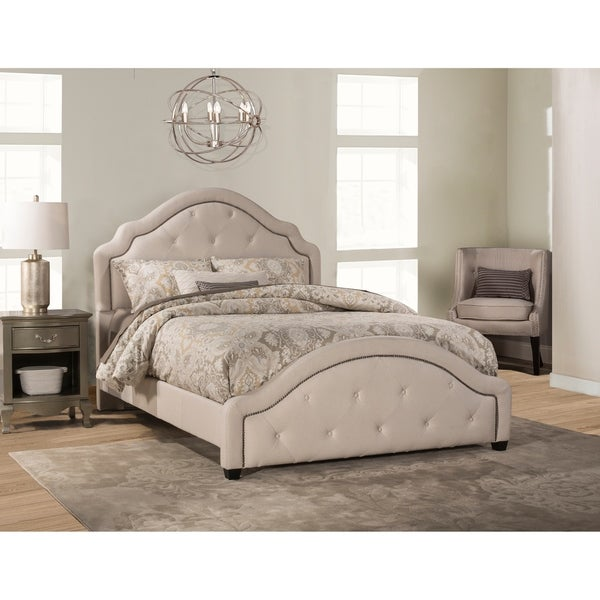 Belize Bed - Queen - Rails Included - Natural Fabric