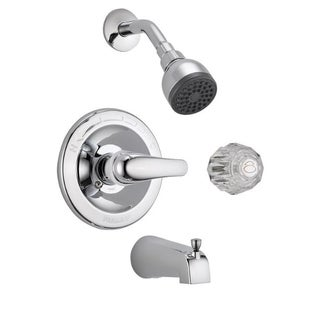 Peerless P188720 Chrome Complete Tub & Shower Faucet With & Lever Handles