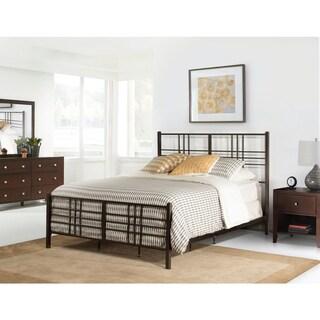 Manhattan Pewter-finished Metal King-sized Complete Bed Set
