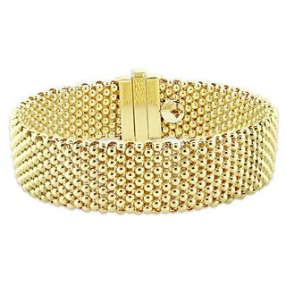 Miadora Signature Collection 18k Yellow Gold Popcorn Cuff Bracelet