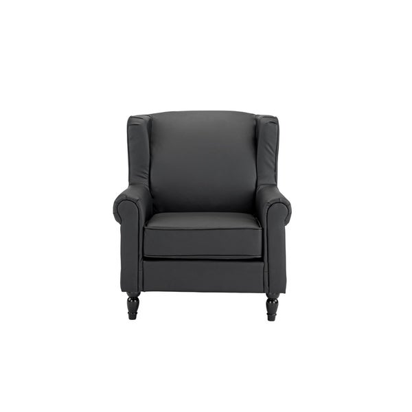 Shop Modern Living Room Accent Arm Chair In Faux Leather