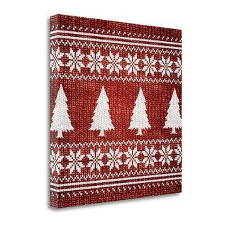 Red Nordic Sweater II By Artique Studio,  Gallery Wrap Canvas