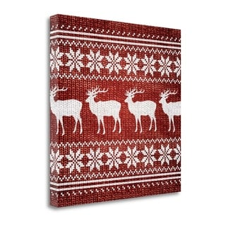 Red Nordic Sweater I By Artique Studio,  Gallery Wrap Canvas
