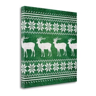 Green Nordic Sweater I By Artique Studio,  Gallery Wrap Canvas