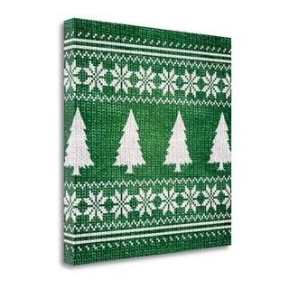 Green Nordic Sweater II By Artique Studio,  Gallery Wrap Canvas