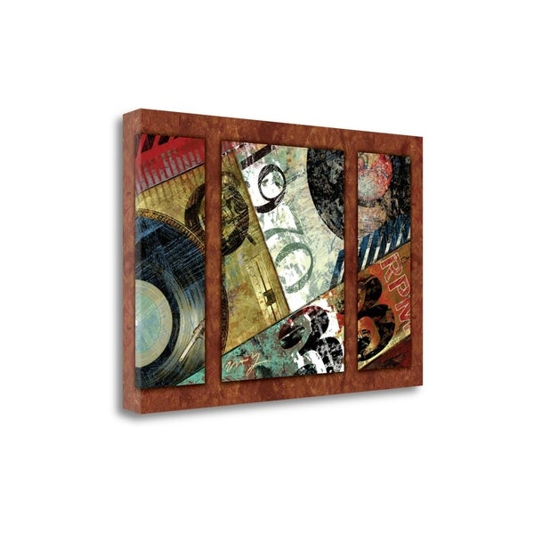 Hits Town 1970 - Triptych By Eric Yang, Gallery Wrap Canvas
