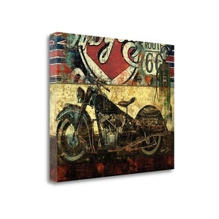 Bike Route 66 II By Eric Yang,  Gallery Wrap Canvas
