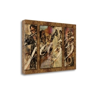 Jazz - Triptych By Eric Yang,  Gallery Wrap Canvas