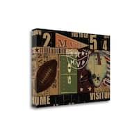 Vintage Stadium By Eric Yang,  Gallery Wrap Canvas