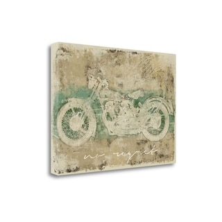 No Regret Motorcycle By Eric Yang,  Gallery Wrap Canvas