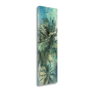 Teal Palm Triptych I By Eric Yang,  Gallery Wrap Canvas