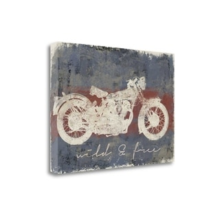 Wild And Free Motorcycle By Eric Yang,  Gallery Wrap Canvas