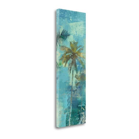 Teal Palm Triptych III by Eric Yang, Gallery Wrap Canvas