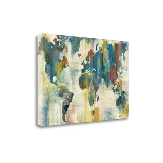 World Map By Eric Yang,  Gallery Wrap Canvas