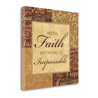With Faith By Piper Ballantyne,  Gallery Wrap Canvas