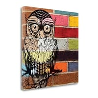 Brick Wall Owl By Piper Ballantyne,  Gallery Wrap Canvas