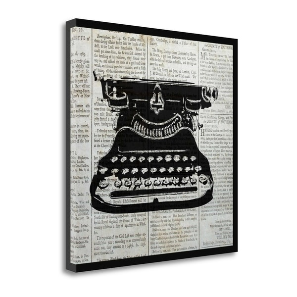 Vintage Typewriter By Piper Ballantyne,  Gallery Wrap Canvas