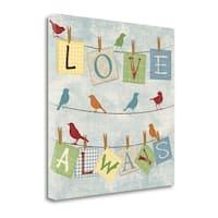 Love Always Birds By Piper Ballantyne,  Gallery Wrap Canvas