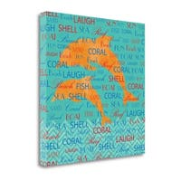 Splashing Dolphins By Piper Ballantyne,  Gallery Wrap Canvas