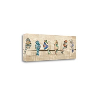 Birds On A Wire Mate By Piper Ballantyne,  Gallery Wrap Canvas