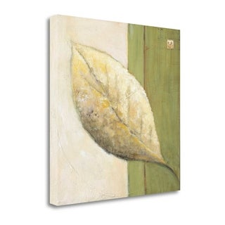 Leaf Impression - Olive By Ursula Salemink-Roos,  Gallery Wrap Canvas