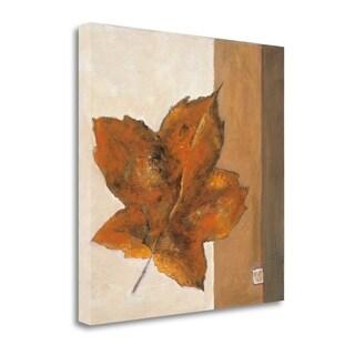 Leaf Impression - Rust By Ursula Salemink-Roos,  Gallery Wrap Canvas