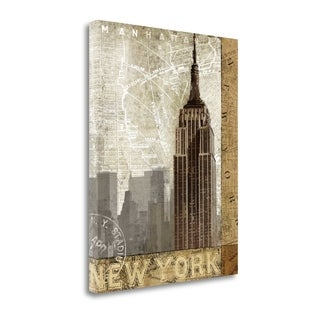 Autumn In New York By Keith Mallett,  Gallery Wrap Canvas