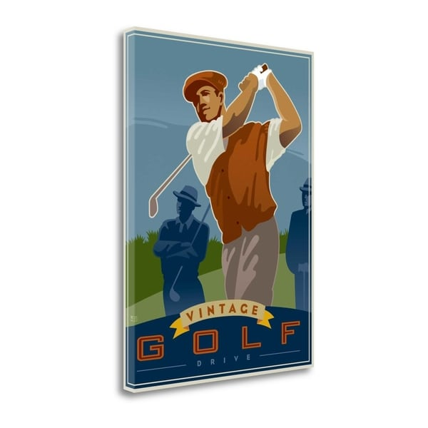 Vintage Golf - Drive By Si Huynh, Gallery Wrap Canvas